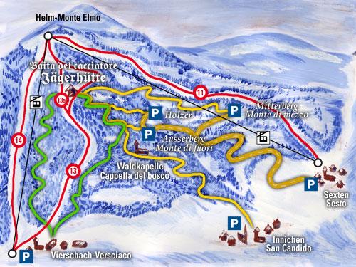 Mappa Monte Elmo