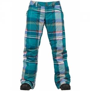 Burton Pantalone Society Jade Huntsman Plaid