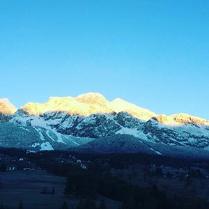 Prima neve a Cortina
