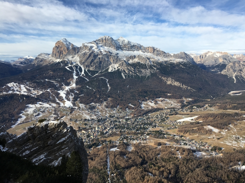 Vista panoramica dal monte Faloria