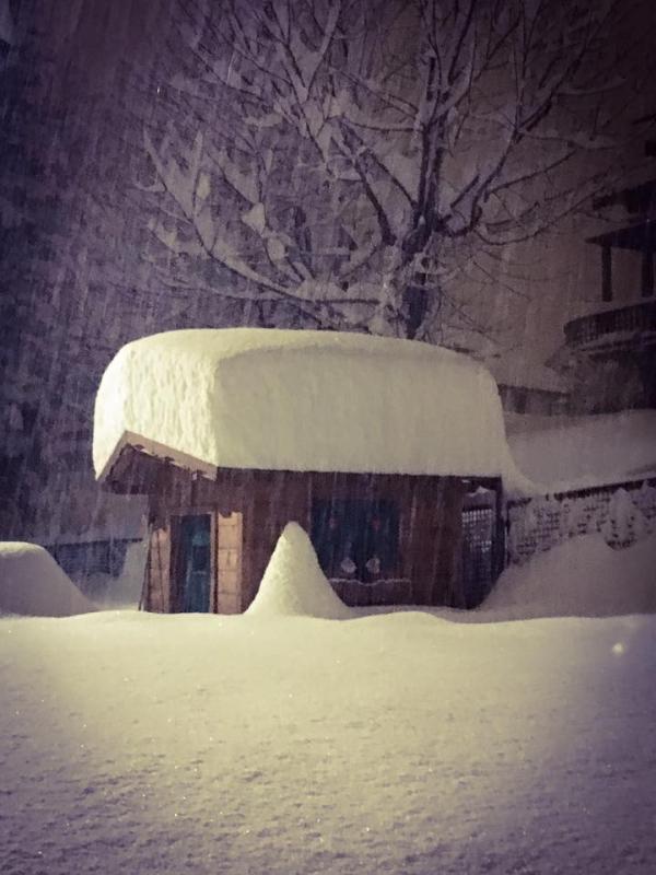 Cortina nevicata marzo