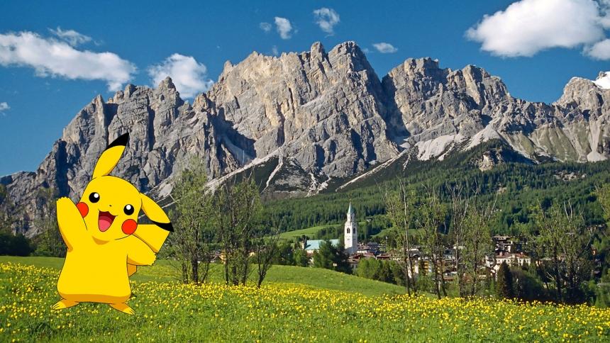 Pokemon a Cortina d'Ampezzo