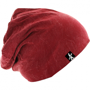 Stonewashed Jersey Beanie Red