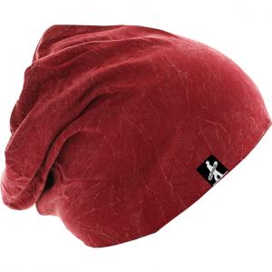 Stonewashed Jersey Beanie Red